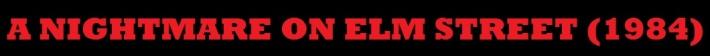 A Nightmare on Elm Street Banner