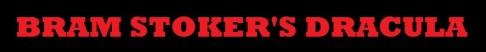 Bram Stoker's Dracula Title Banner